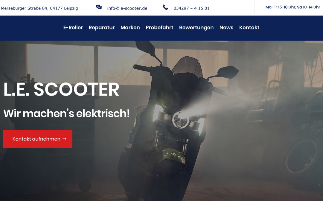 Bild L.E. Scooter Neue Website