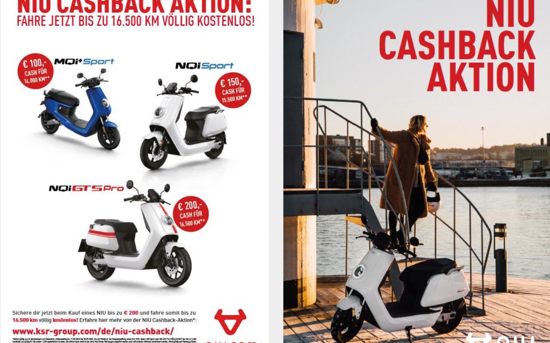 NIU CASHBACK-AKTION – Sparen Sie bis zu 200 Euro